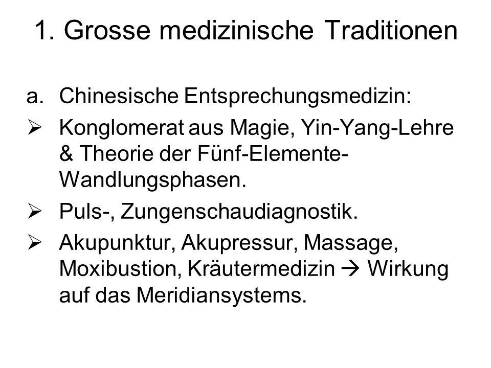 1. Grosse medizinische Traditionen