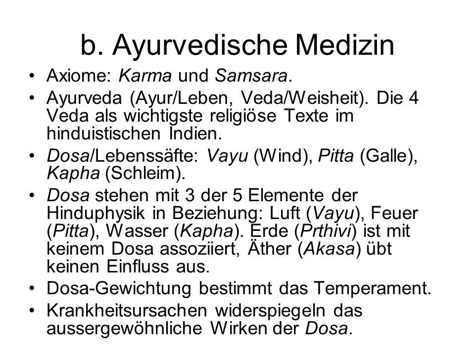 b. Ayurvedische Medizin