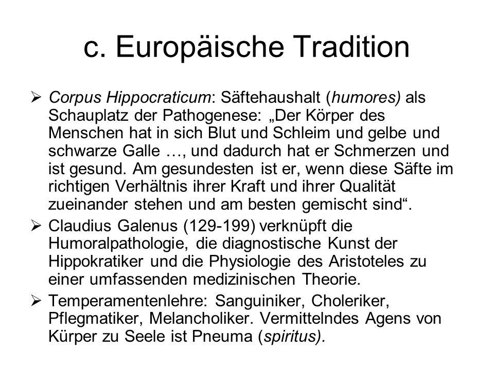 c. Europäische Tradition