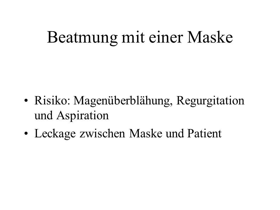 Beatmung mit einer Maske