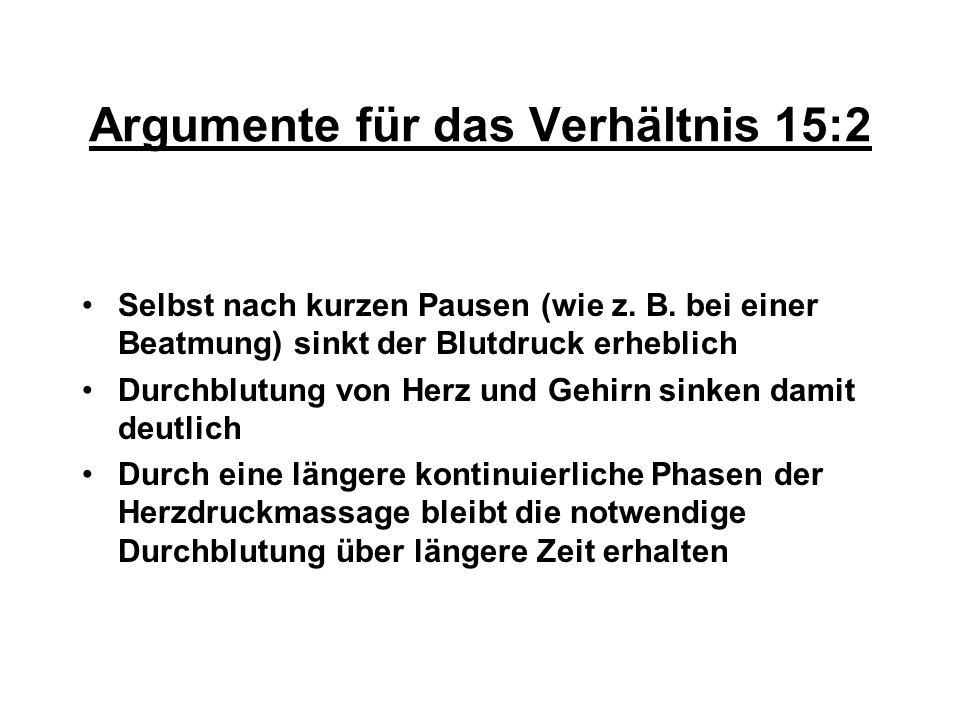 Argumente für das Verhältnis 15:2
