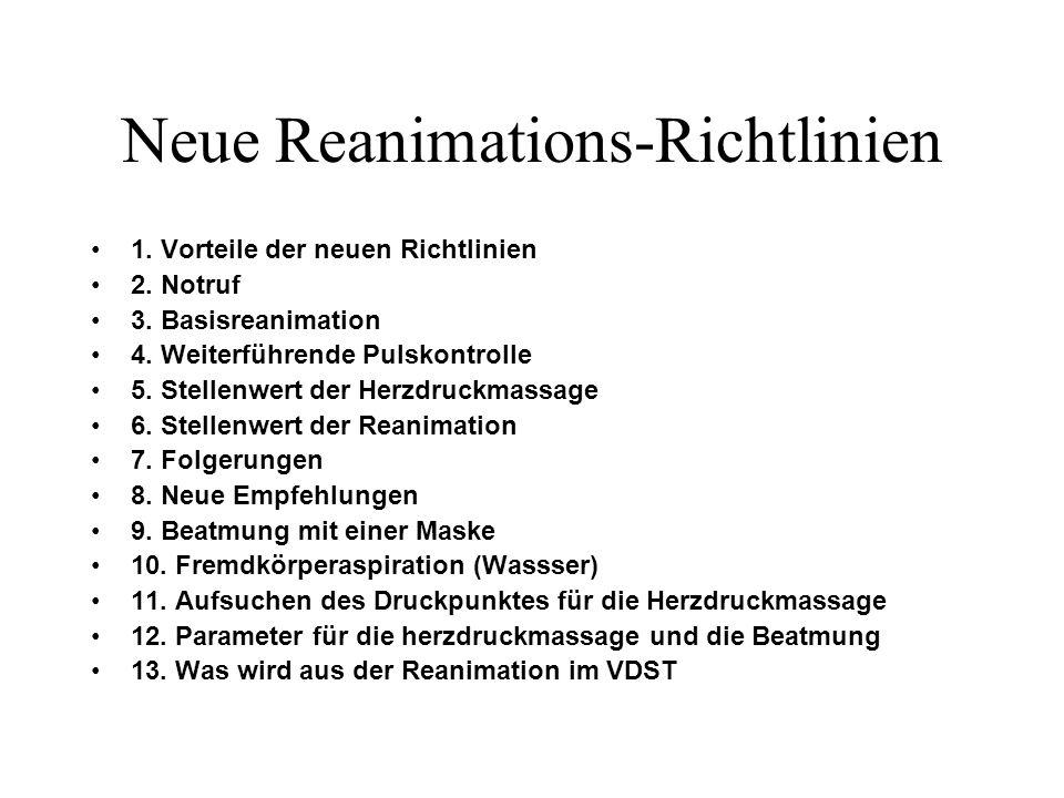 Neue Reanimations-Richtlinien