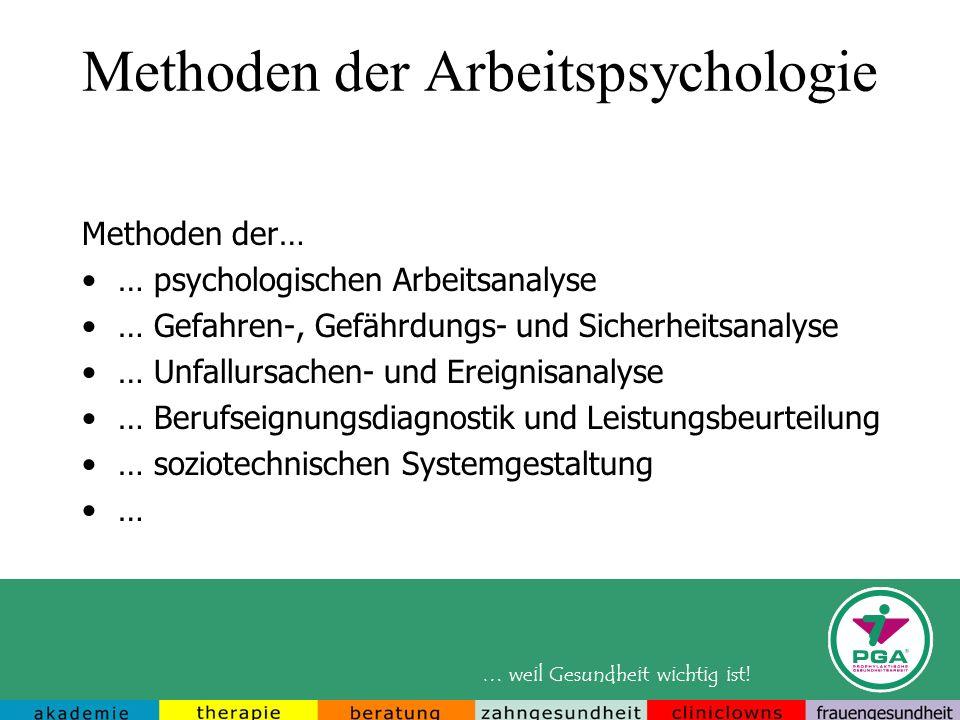 Methoden der Arbeitspsychologie