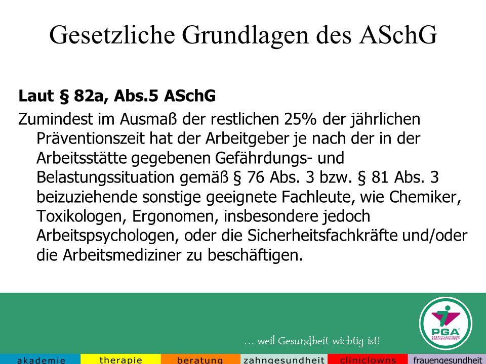 Gesetzliche Grundlagen des ASchG