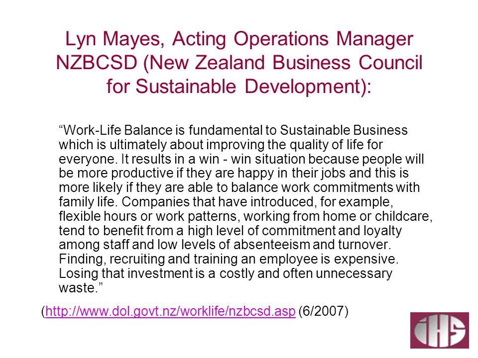 Lyn Mayes, Acting Operations Manager NZBCSD (New Zealand Business Council for Sustainable Development):