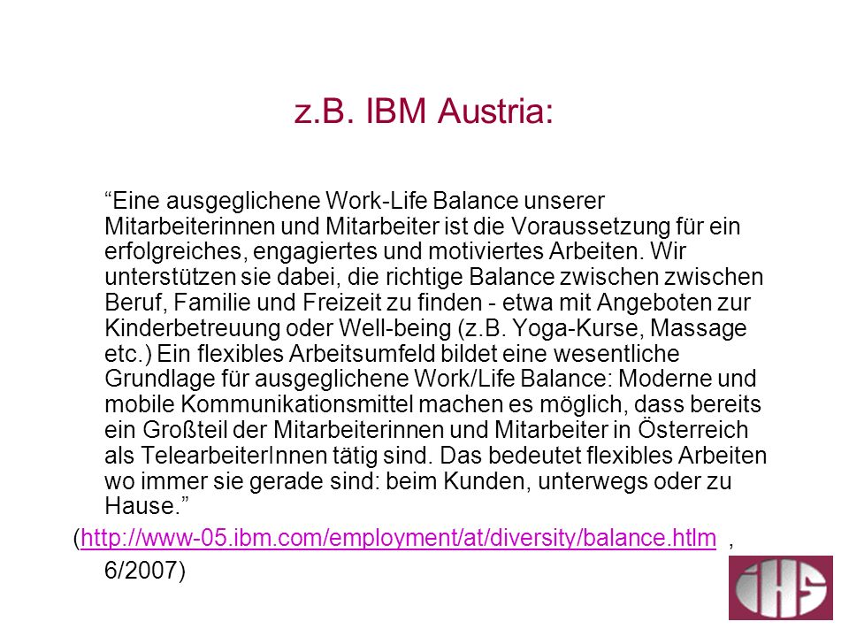 z.B. IBM Austria: