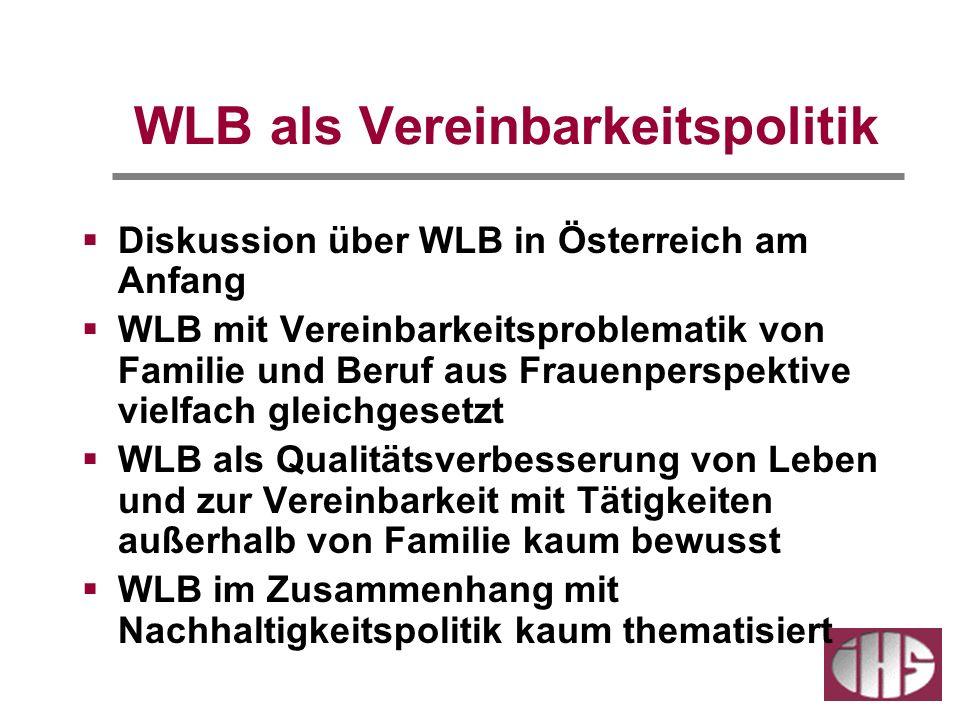 WLB als Vereinbarkeitspolitik