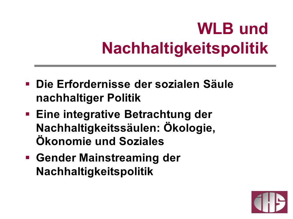 WLB und Nachhaltigkeitspolitik