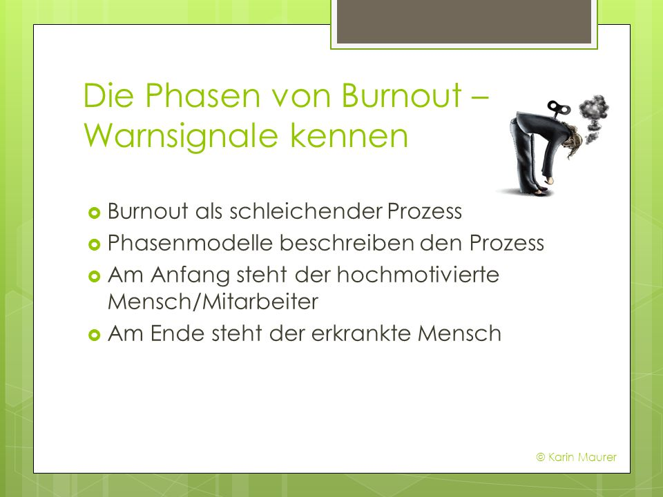 Die Phasen von Burnout – Warnsignale kennen