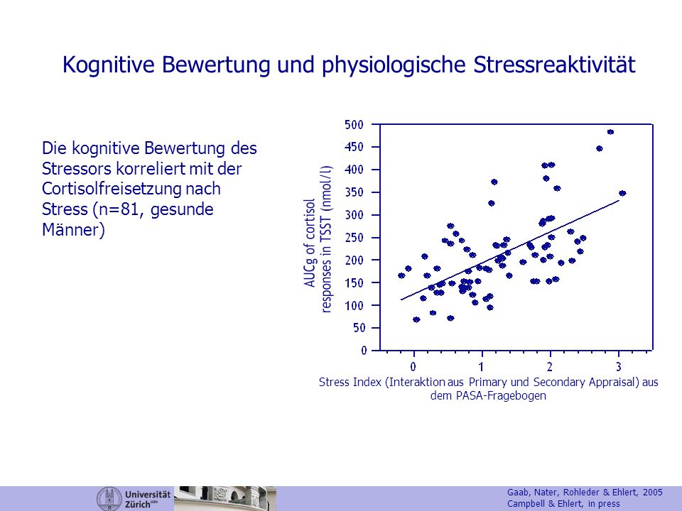 Kognitive Bewertung und physiologische Stressreaktivität