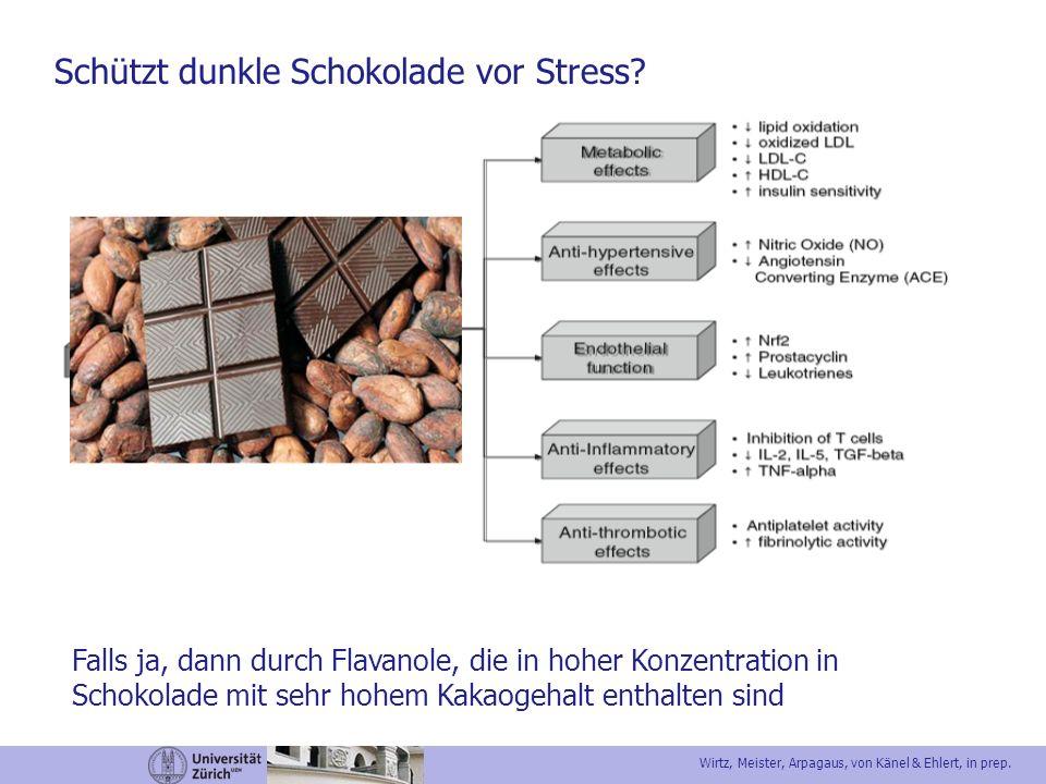 Schützt dunkle Schokolade vor Stress