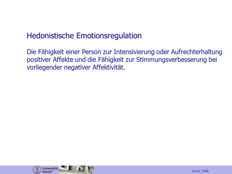 Hedonistische Emotionsregulation