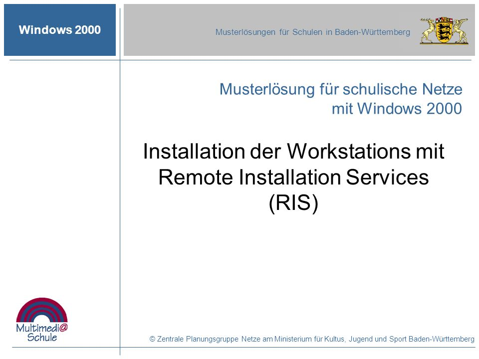 Installation der Workstations mit Remote Installation Services (RIS)