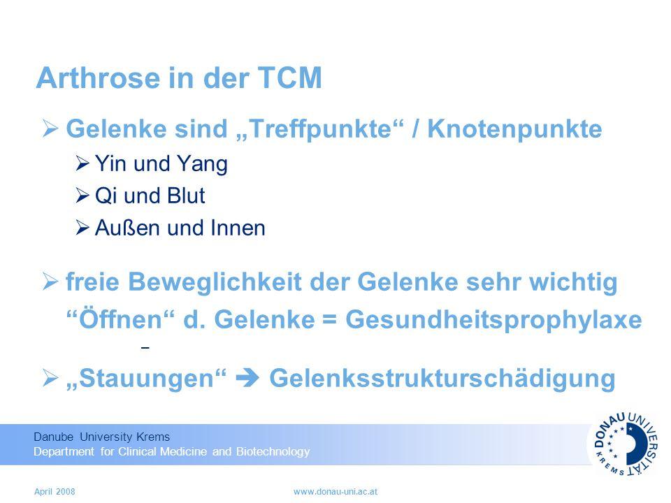 """Arthrose in der TCM Gelenke sind """"Treffpunkte / Knotenpunkte"""