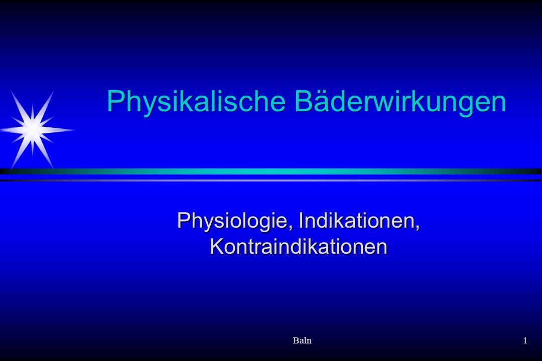 Physikalische Bäderwirkungen