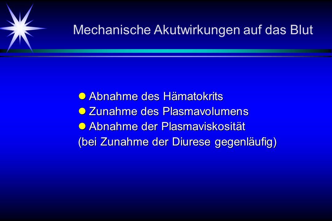 Mechanische Akutwirkungen auf das Blut