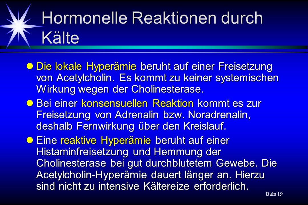 Hormonelle Reaktionen durch Kälte
