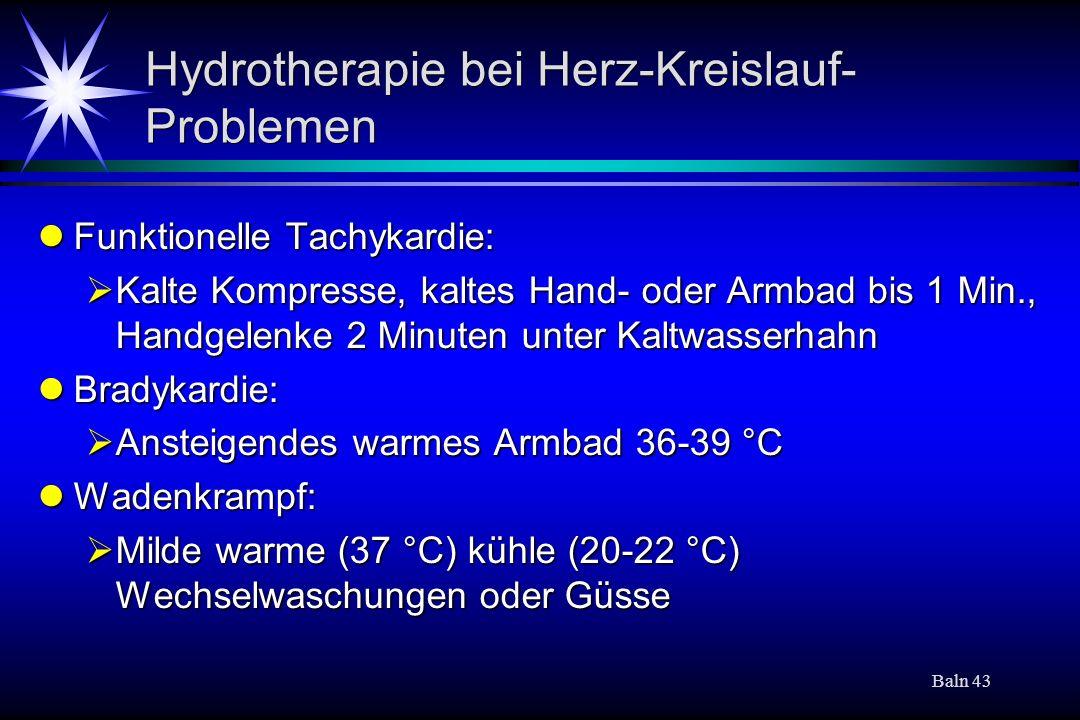 Hydrotherapie bei Herz-Kreislauf-Problemen
