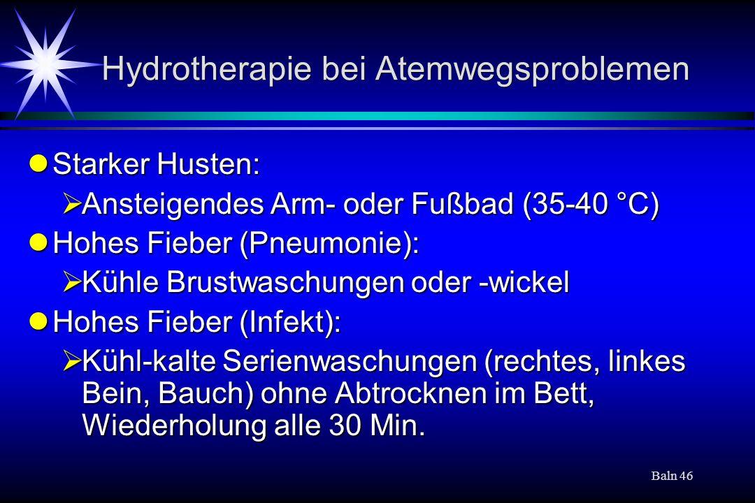 Hydrotherapie bei Atemwegsproblemen