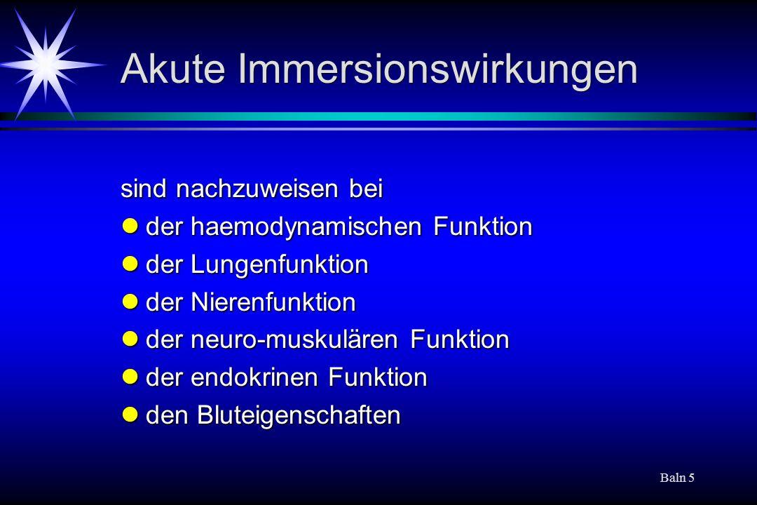 Akute Immersionswirkungen