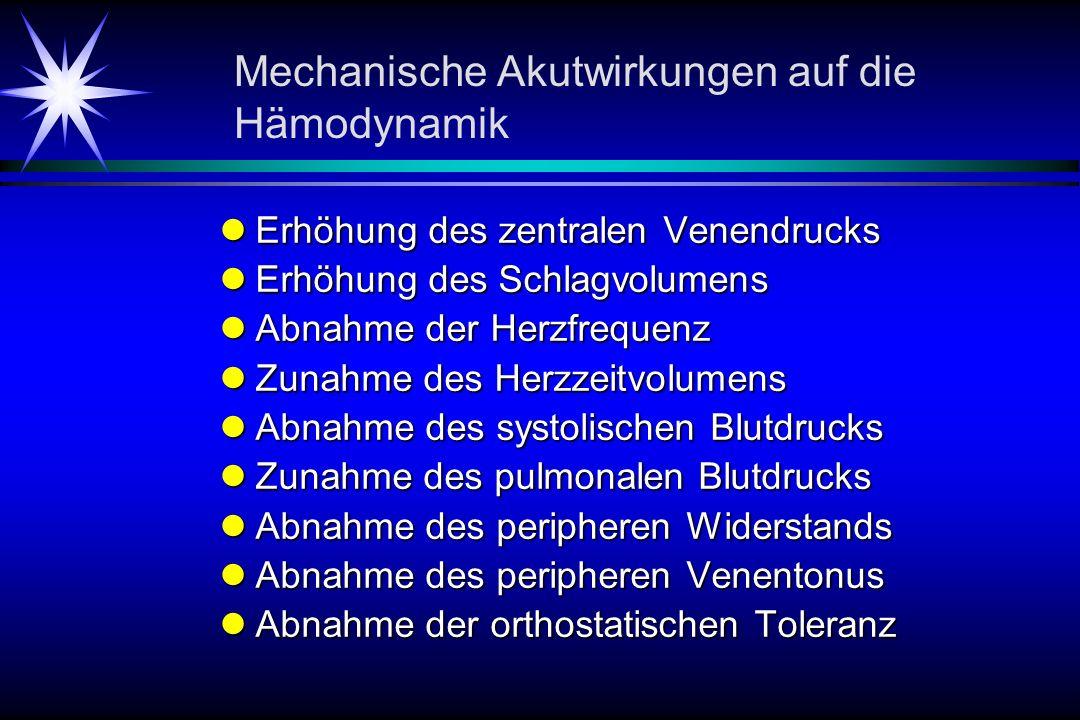 Mechanische Akutwirkungen auf die Hämodynamik