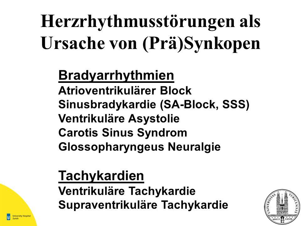 Herzrhythmusstörungen als Ursache von (Prä)Synkopen