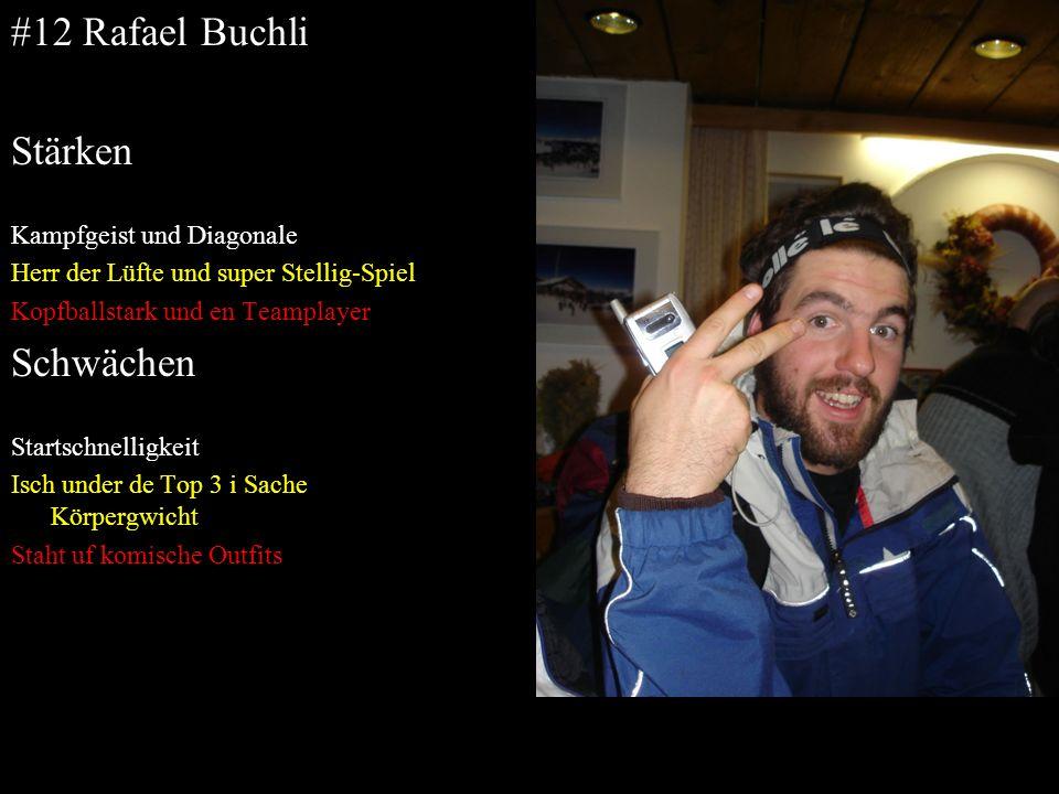 #12 Rafael Buchli Stärken Schwächen Kampfgeist und Diagonale