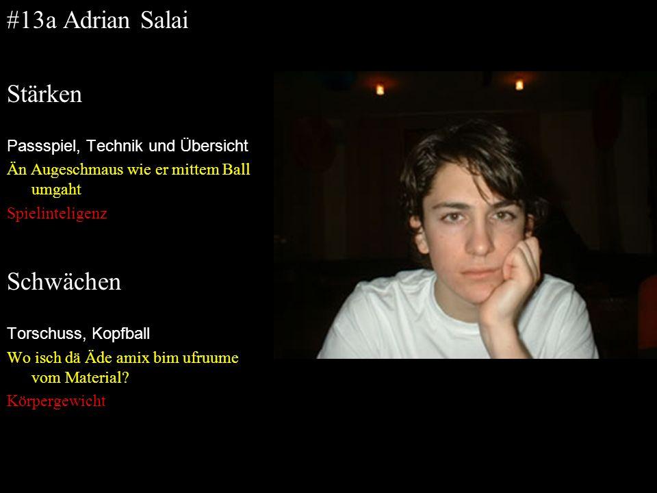 #13a Adrian Salai Stärken Schwächen Passspiel, Technik und Übersicht