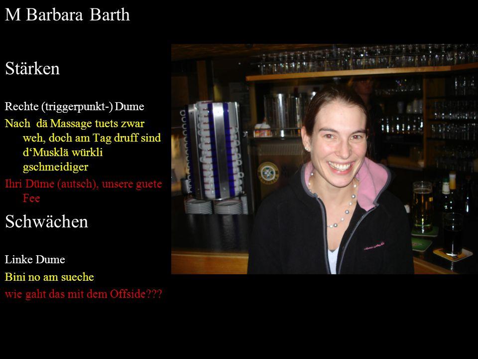 M Barbara Barth Stärken Schwächen Rechte (triggerpunkt-) Dume