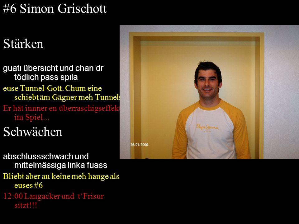 #6 Simon Grischott Stärken Schwächen