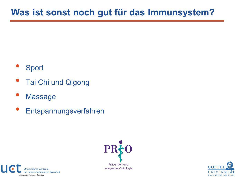 Was ist sonst noch gut für das Immunsystem