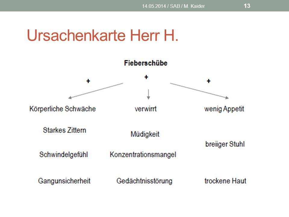 14.05.2014 / SAB / M. Kaider Ursachenkarte Herr H.