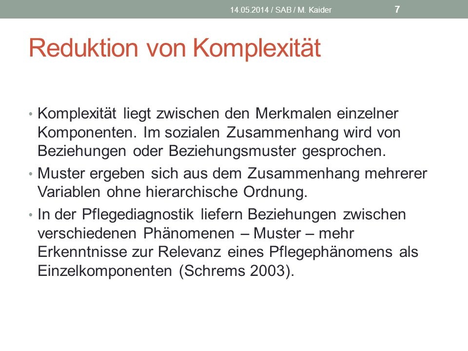 Reduktion von Komplexität