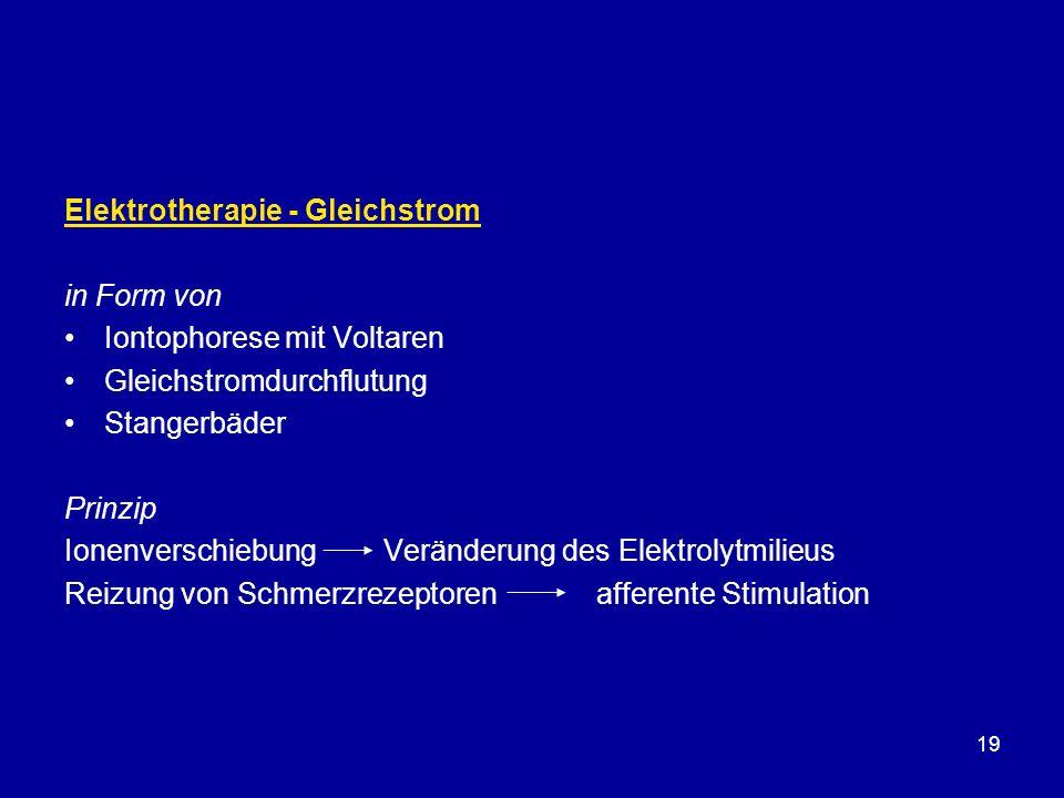 Elektrotherapie - Gleichstrom
