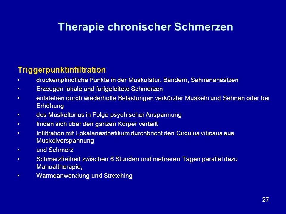 Therapie chronischer Schmerzen