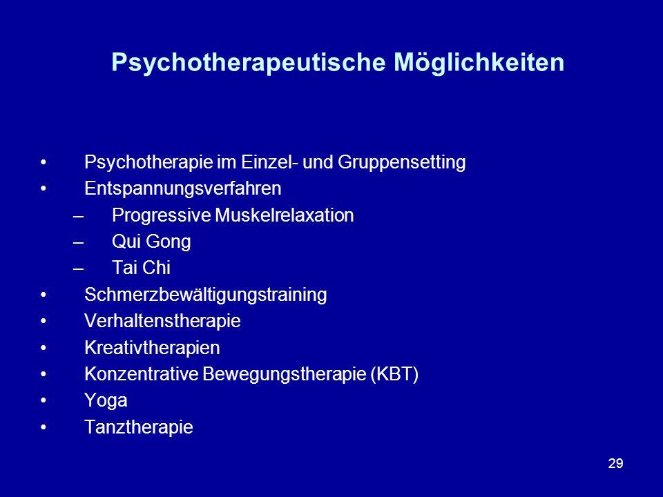 Psychotherapeutische Möglichkeiten