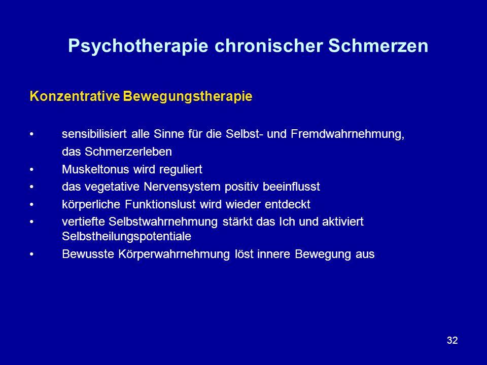Psychotherapie chronischer Schmerzen