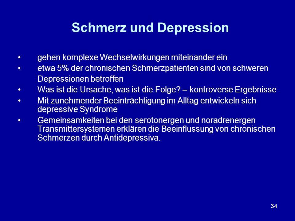 Schmerz und Depression