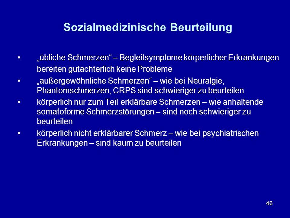 Sozialmedizinische Beurteilung