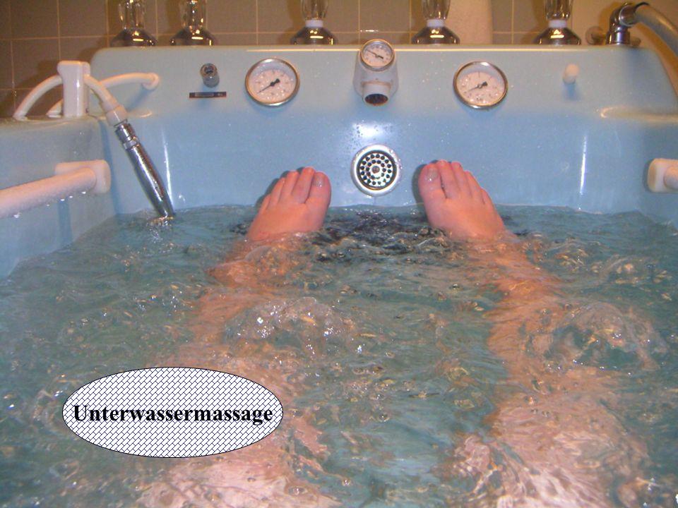 Unterwassermassage