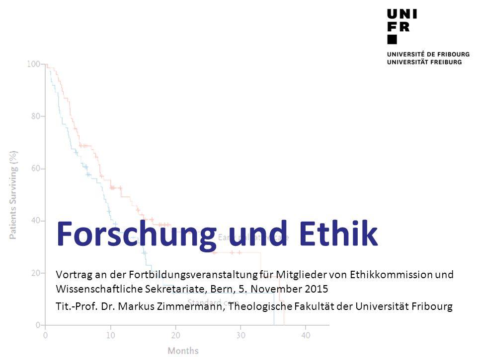 Forschung und Ethik