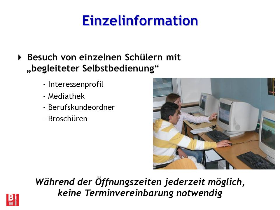 Einzelinformation - Interessenprofil