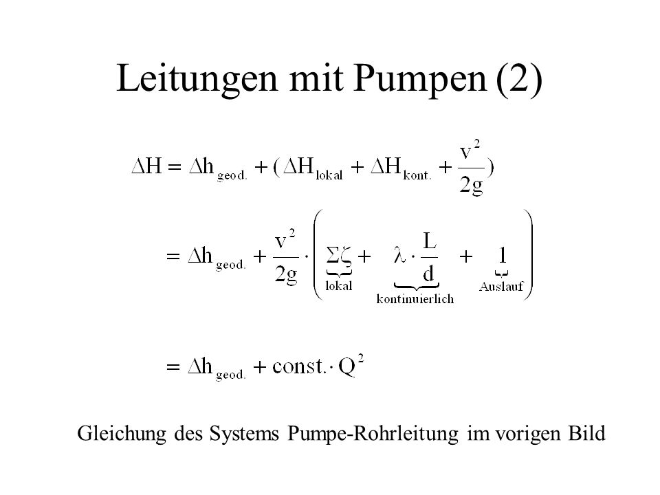 Leitungen mit Pumpen (2)