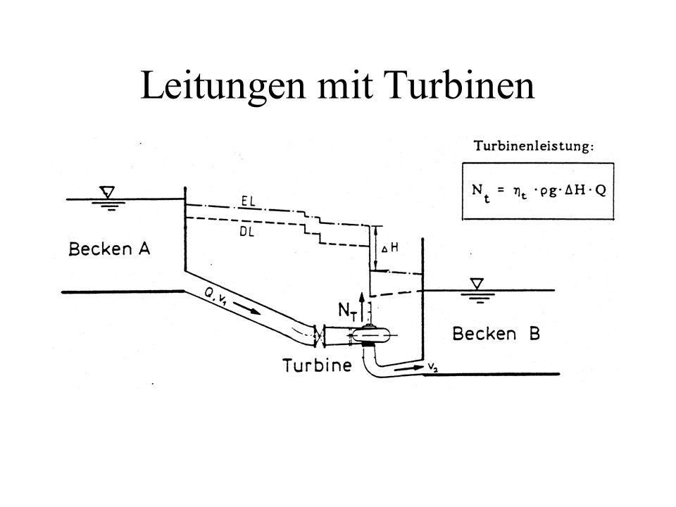 Leitungen mit Turbinen