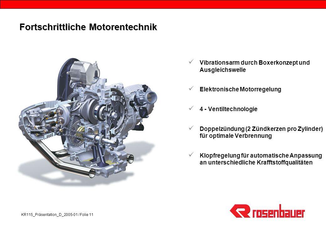 Fortschrittliche Motorentechnik