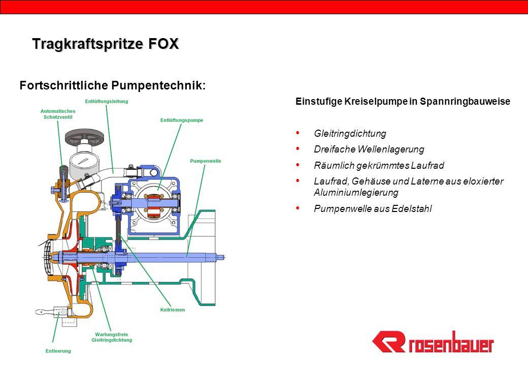 Tragkraftspritze FOX Fortschrittliche Pumpentechnik: