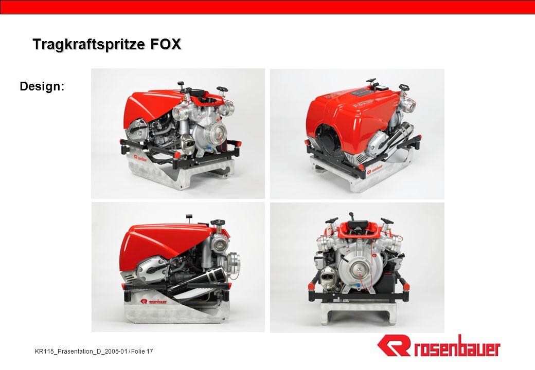Tragkraftspritze FOX Design: