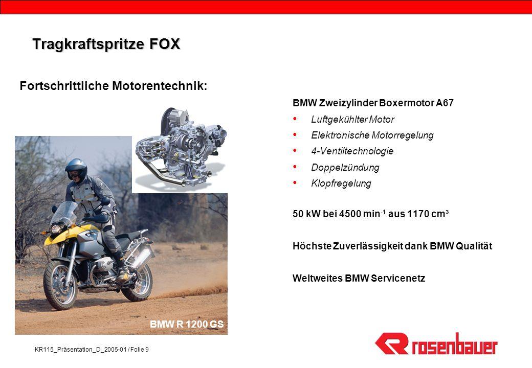 Tragkraftspritze FOX Fortschrittliche Motorentechnik:
