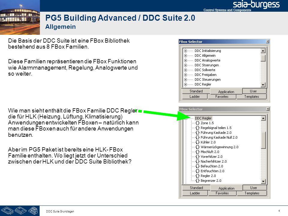 PG5 Building Advanced / DDC Suite 2.0 Allgemein