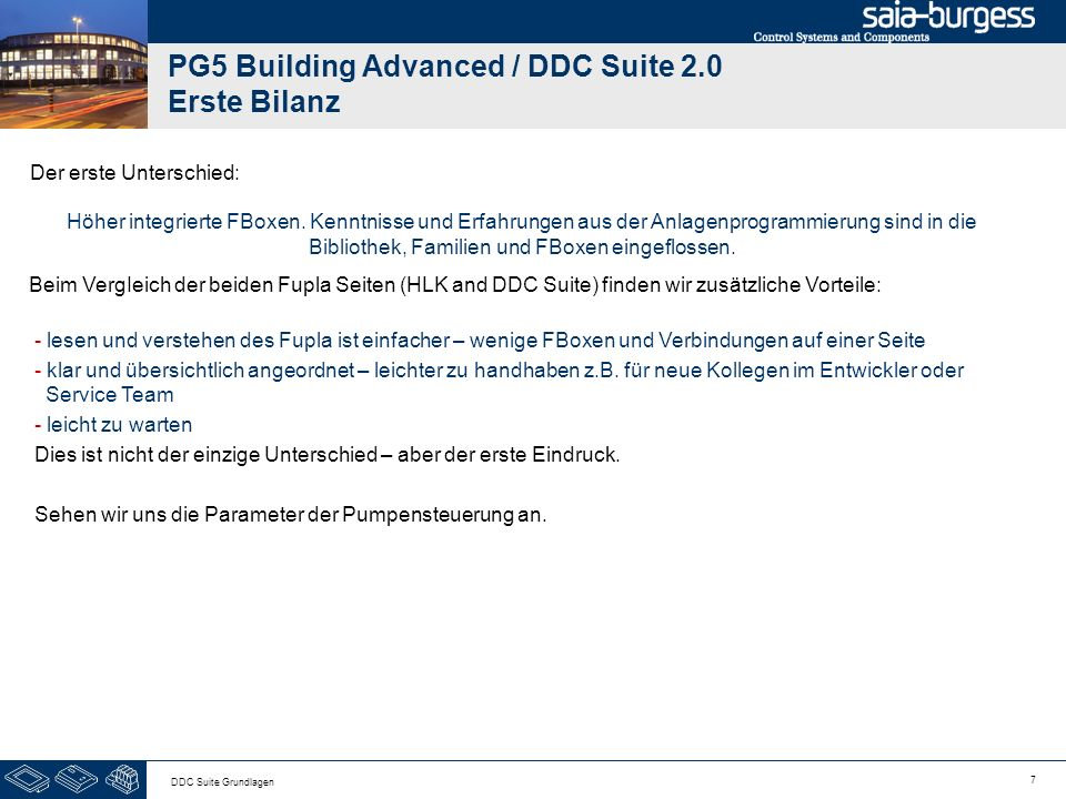 PG5 Building Advanced / DDC Suite 2.0 Erste Bilanz